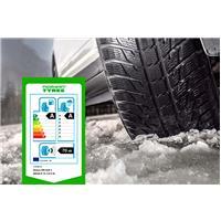 Publicité, pneu hiver et étiquette