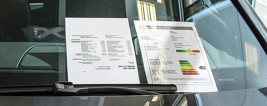 Etiquette CO2 voiture