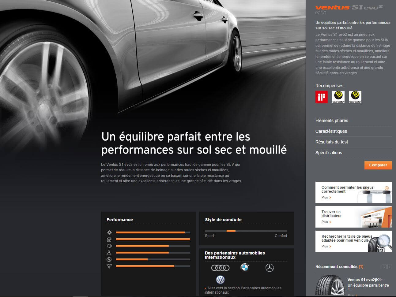 Site web Hankook pneus