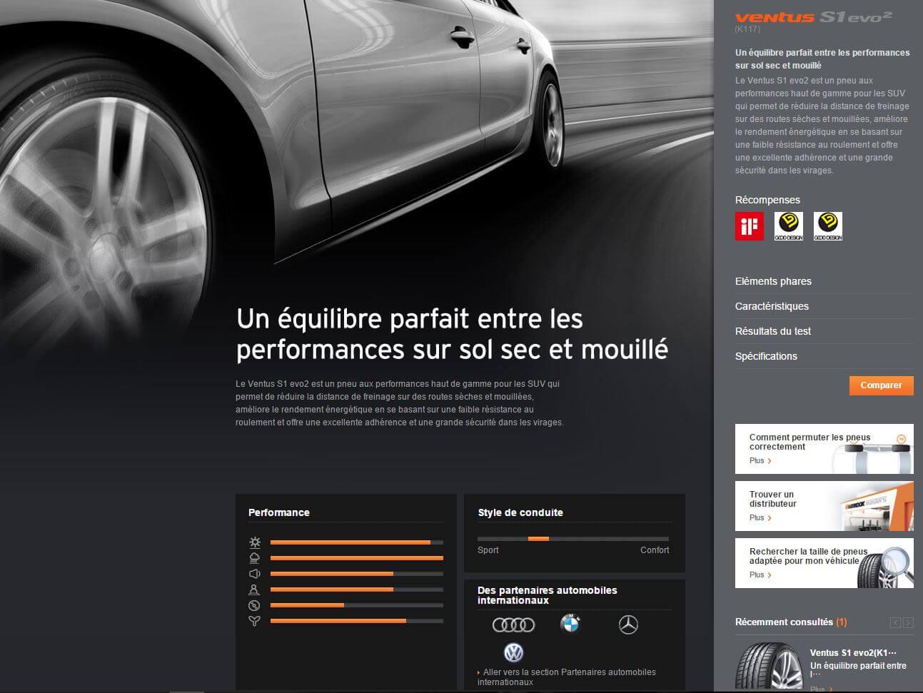 Site web Hankook pneus